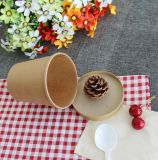 Vaso de empaquetado disponible de la sopa del papel de Kraft del envase de los alimentos de preparación rápida