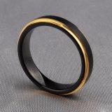 De hete Ringen van het Wolfram van het Gouden Plateren van de Juwelen van de Manier van de Verkoop In het groot