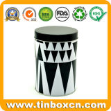 Food Packaging box Round Metal Coffee Tin with Airtight eyelid