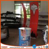 Складная изготовленный на заказ стена торговой выставки с пробкой алюминия ткани напряжения