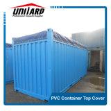 19oz Rainproof голубой ПВХ верхнюю крышку контейнера для доставки грузов