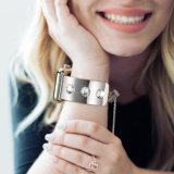 Crystal Rhinestone loop de corrente para o bracelete Iwatch trança de substituição