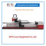 cortadora de hoja del tubo del laser 1500W para los materiales del metal del tubo