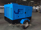De mobiele Draagbare van de Diesel van Cummins Compressor Met motor Lucht van de Schroef voor Mijnbouw