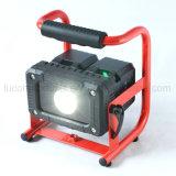 리튬 이온 돌릴수 있는 헤드를 가진 배터리 전원을 사용하는 높은 루멘 LED 일 램프