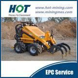 Used&#160 ancho; Mini cargador modificado para requisitos particulares de la pequeña rueda
