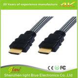 Cabo chapeado do PVC ouro universal HDMI do preto do fabricante