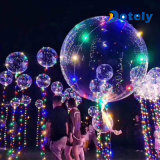Aerostato d'ardore trasparente della bolla LED del partito di Bobo del partito dell'elio lampeggiante