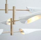 居間のための最新のデザインポストの現代白い吊り下げ式の照明設備のシャンデリアランプライト