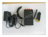 Teléfono móvil portátil y WiFi Jammer portátil; de color negro de 4 bandas Celular improvisación con la antena omnidireccional de 4pcs