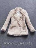 Европейский дизайн моды женщин короткие зимние куртки шерсти Китая покупок через Интернет