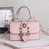 Nagelneue Art-echtes Leder-Handtascherhinestone-Form-Schultasche, Beutel für Frauen Emg5161 wenn