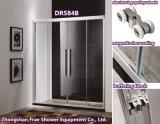 Douche coulissante coulissante de vapeur de Sanitaryware de deux de la difficulté deux d'alliage d'aluminium de bâti de douche de porte de douche de pièce jointe de douche double de douche de cabine de pièce accessoires de salle de bains