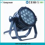 Resistente al agua 18*10W RGBW LED de iluminación de la etapa profesional IP65