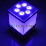 Draadloze Battery Operated 9*14W Rgbawuv 6in1 LED Party Lights