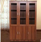Gabinete de madeira do livro da cor do bordo