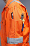 vêtements de travail ignifuges de sûreté de 88%Cotton 12%Nylon avec la bande r3fléchissante (BLY1014)