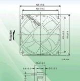 Вентилятор охладителя C.P.U. DC. 120*120*25mm с аттестацией Ce&UL. Обеспечьте подгонянное обслуживание