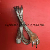 La aprobación de Tisi transparente de 1,2 m de cable de alimentación de Tailandia con IEC 320 C13