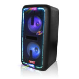 DJ Fase de la caja del altavoz con micrófonos inalámbricos Bluetooth208-09 SL