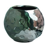 Contenitore di ceramica martellato elettrolitico d'argento della candela
