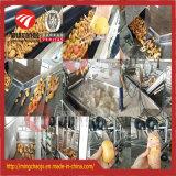 公認のブラシのタイプルート野菜の洗浄の皮の機械装置(400kg/h)