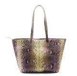 상한 실제적인 Python 피부 여자 어깨에 매는 가방 가죽 끈달린 가방을 주문 설계하십시오
