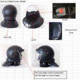 Anti casque noir mat d'émeute