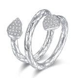 Boucles ouvertes plaquées par Zirconia de bijou de mode de femmes