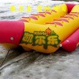 2-8 barca di banana gonfiabile dell'acqua dell'oceano delle persone con 2 tubi