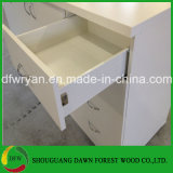 現代デザインメラミンはMDFの木製の食器棚に直面した