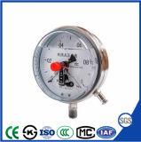 Ytnx-100c remplis d'huile de pression de contact électrique résistant aux chocs jauge avec l'acier inoxydable