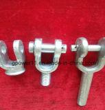 Polo de hardware de montaje de tubería de acero forjado de HDG Horquilla Socket Hardware eléctrico