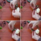 China 10 años de surtidor del alambre colorido del florista