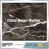 Мраморный плитка стены Brown для пользы проектов с Polished поверхностью