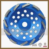 """4 """" Coupe à double rangée de marbre Wheel-Diamond meules de granit"""