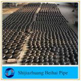 Chapeau elliptique soudé Sch40 ASME B16.9 de pipe d'acier du carbone