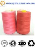 Coloreful 100% 회전된 폴리에스테 직물 꿰매는 스레드