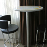 Premiers Tableaux et présidences de marbre élevés, table basse extérieure solide ronde (T171120)
