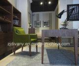 Única cadeira de couro de madeira moderna européia do sofá (C-52)