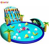 2018 o Parque Aquático insufláveis gigantes no exterior com piscina para crianças ACS0126