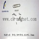 Ck-242 Grado imanes de NdFeB Φ 0.9*Φ 0,65*5,2 mm