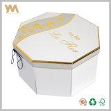 Papel creativo octogonal Blanca Caja de regalo con cuerda