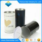 Personalizar a tampa metálica do tubo de moedas de papelão de papel