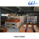Cercueil et cercueil à haute brillance de satin de matériels en plastique