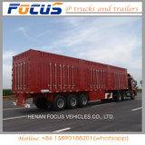 Kostenbelastungs-seitliche Wand China-70t, die seitliche Lastkraftwagen mit Kippvorrichtung für Verkauf ausgibt