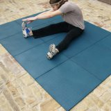 Crossfitの体操のフロアーリングのマット、屋内体育館の床は、ゴム製タイルをリサイクルする