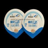 Pre grabadas tapas impresas del papel de aluminio del corte para la leche