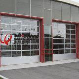 Верхняя Автоматическая сегменте панельного домостроения аккордеон закаленное стекло двери гаража безопасности