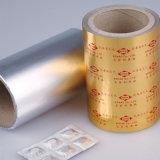 환약은 캡슐 포장 재료 착색한 지구 Alu 포일을 메모장에 기입한다